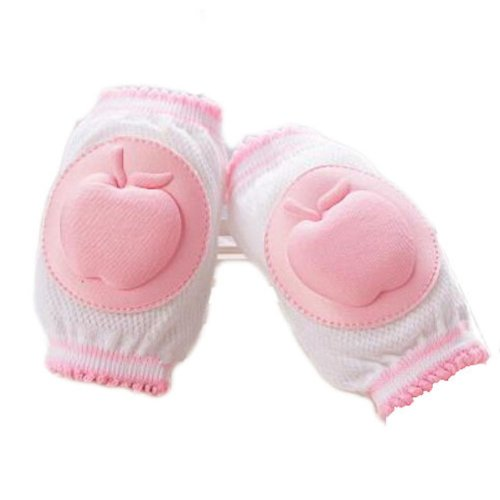 Set of 2 Cotton Mesh  Baby Leg Warmers Knee Pads/Protect-Apple, Pink