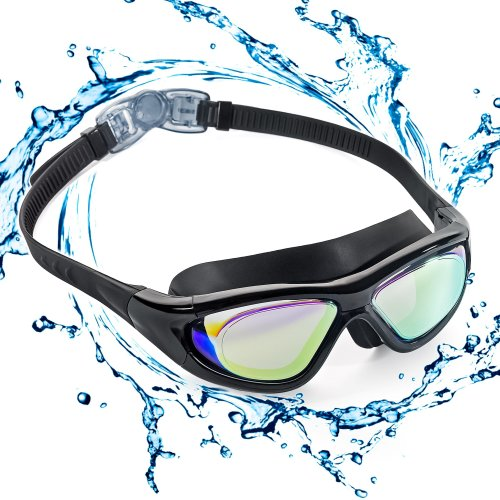 06a5cca432db ZetHot Big Frame Swim Goggles, Polarized Swimming Goggles No Leaking Anti  Fog UV Protection Triathlon Swim Goggles for Adult Men Women Youth Kids...  on ...