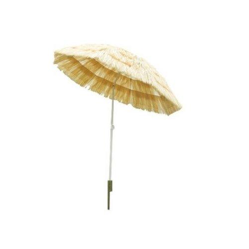 Outsunny Folding Straw Garden Umbrella | Hawaiian Style Parasol