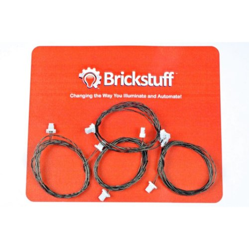 """Brickstuff 24"""" Extension Cables for the Brickstuff LEGO Lighting System (4-Pack) - GROW24"""