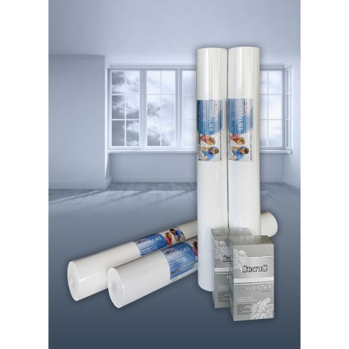 Non-woven smooth paintable lining paper 150 g NormVlies wall liner 4 rolls 75 m2