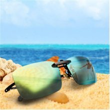 Polarized Clip On Sunglasses Night Vision Lens Clip For Metal Frame Glasses