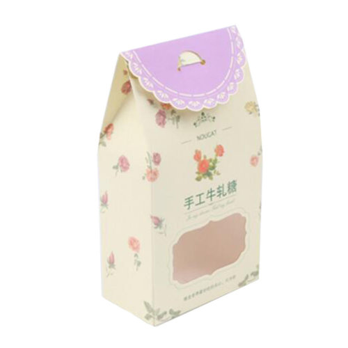 50PCS Cute Boxes WithHandle For Pack Candies,Nougat,OtherGift,in Party,Birthdays,and other Events,#1