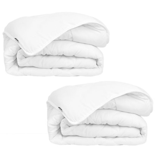 vidaXL Winter All Seasons Duvet/Quilt 2 pcs 135x200 cm White