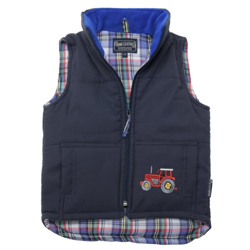 Lambland Boy's Embroidered Tractor Gilet Body Warmer