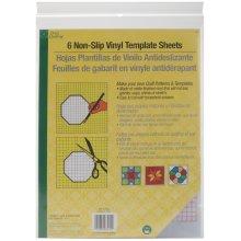 "Dritz Quilting Non-Slip Vinyl Template Sheets 6/Pkg-8-1/2""X11"""