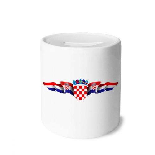 Croatia National Emblem Country Symbol Money Box Saving Banks Ceramic Coin Case Kids Adults