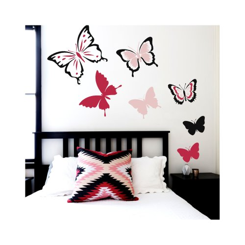 BUTTERFLY SET OF 6 Furniture Wall Stencils for Painting