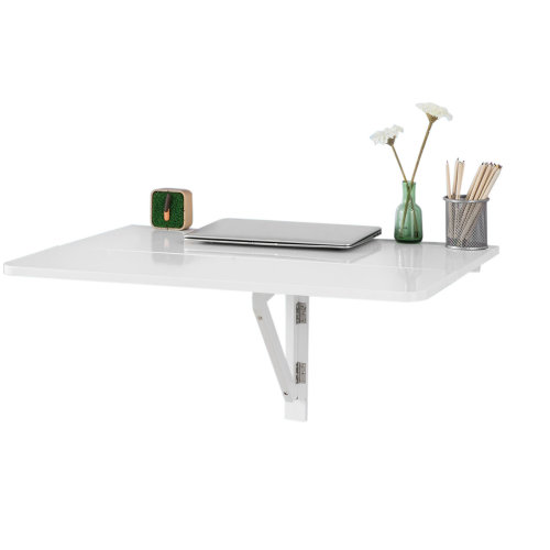 SoBuy® FWT02-W, Folding Wall Computer Desk Kitchen Dining Table, 80x60cm