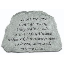 Those We Love Don't Go Away Memorial Stone