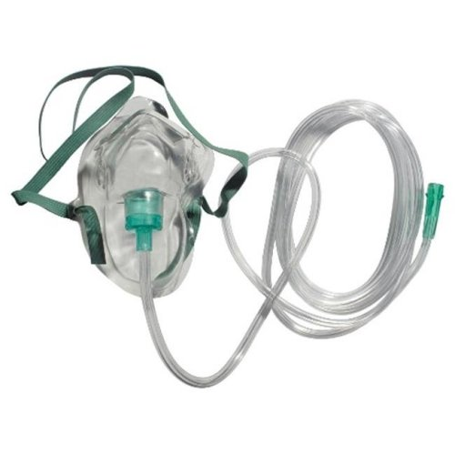Sunset Healthcare Solutions RES2100 Adult Simple Oxygen Mask With 7 ft. Safety Tubing