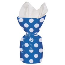 Unique Party Dots Cello Bags - Royal Blue - Polka Gift Loot 20 Birthday -  bags party cello polka gift loot 20 birthday blue cellophane dots treat