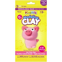 Foamies(R) Air-Dry Modeling Clay 4oz-Hot Pink