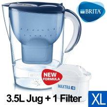 BRITA Marella XL MAXTRA+ Plus 3.5L Water Filter Table Jug with 1 Cartridge, Blue