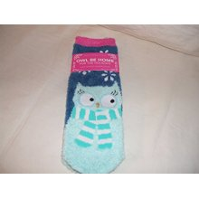 Bath and Body Works Owl Be Home For The Holiday Shea Infused Lounge Socks Warm and Cozy One Size