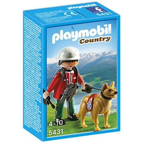PLAYMOBIL Mountain Rescuer with Search Dog Playset