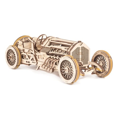 UGears U-9 Grand Prix Car Wooden Model (DIY Building Kit) Hand-Crank Powered Vehicle w/ Working Pistons, Wheels, Shocks | Functional, Authentic... on OnBuy