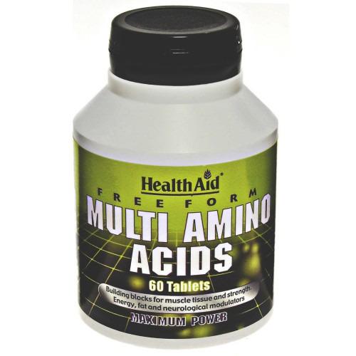 Healthaid Free Form Multi Amino Acids   Tablets 60's