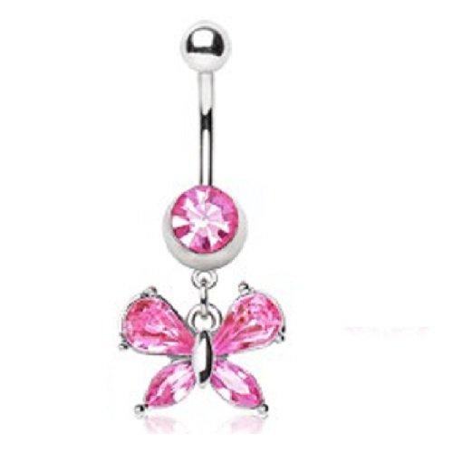 Butterfly Dangle Belly Bar