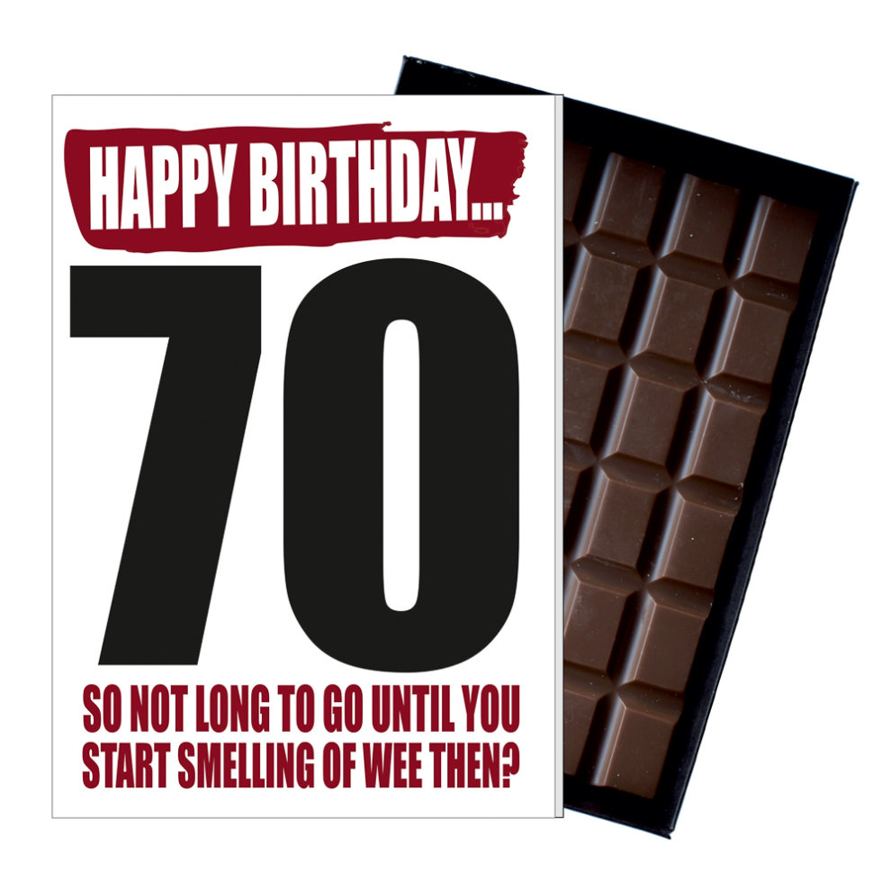 Funny 70th Birthday Gift For Men Women Rude Present Chocolate Greetings Card On OnBuy