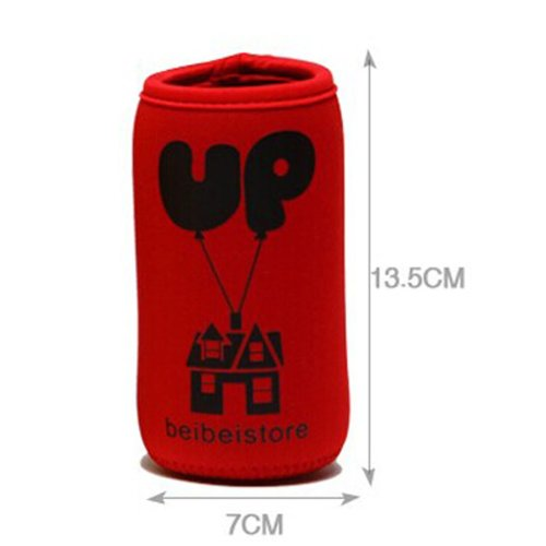 Feeder Milk Bottle Deading Warm Keep Pretecter Bag (13.5*7CM)/Red