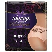 Always Discreet Boutique Pants Plus Underwear Medium Sensitive Bladder Pack of 9