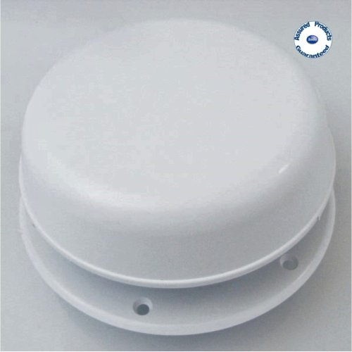 Mushroom Air Vent 150mm with Screwed Spindle (white plastic)