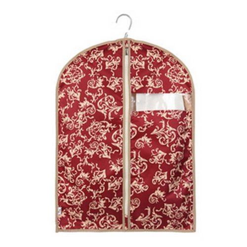 Reusable Dust Proof Garment Suit Bag Creative Zipped Fashion Hanging Pocket RED