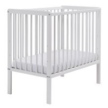 East Coast Carolina Space Saver Cot in White with Mattress