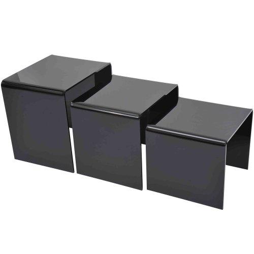 Homcom 3pc Acrylic Nesting Tables