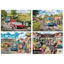 Gibsons the Country Bus Jigsaw Puzzle (4 X 500 Pieces)