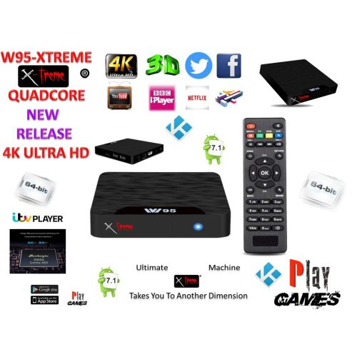 Android Tv Box Fully Xtreme 2018 Kodi tv boxes Pro Plus KODI 18 ultimate machine takes you to another dimension 4X CPU Marshmellow 7.1 AMLOGIC s905 cortex A53 64BIT 2Ghz Wifi 4K UHD H.265 Lan smart tv box quad core 8GB 2GB ULTRA HD Ethernet port, w