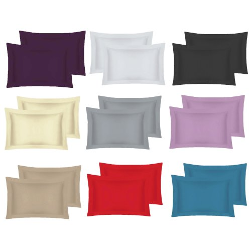 400 Thread Egyptian Cotton Oxford Pillow Case Pair Pillow in Colors