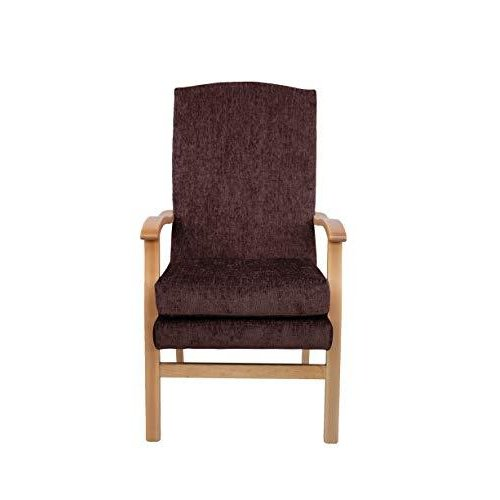 MAWCARE Deepdale Ortopaedic High Seat Chair - 19 x 20 Inches [Height x Width] in Darcy Mocha (lc48-Deepdale_d)