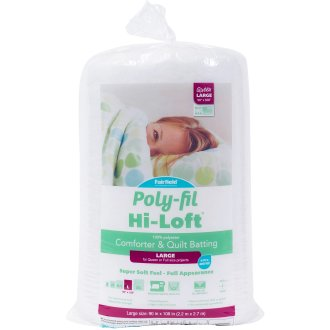 Fairfield Poly-Fil Hi-Loft Bonded Polyester Quilt Batting-Queen Size Fob: Mi