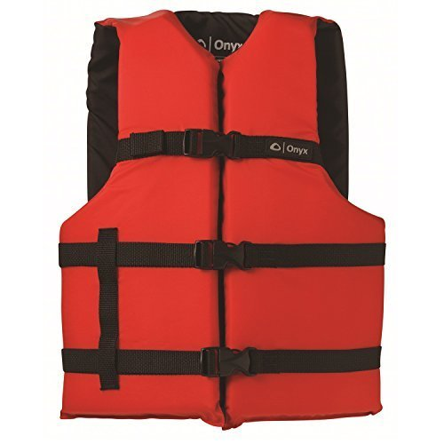 ONYX General Purpose Boating Life Jacket Adult Oversize Size 40 60 Red
