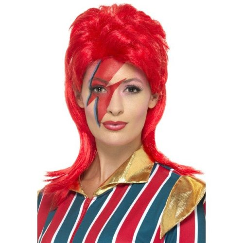 Red Space Superstar Costume Wig.