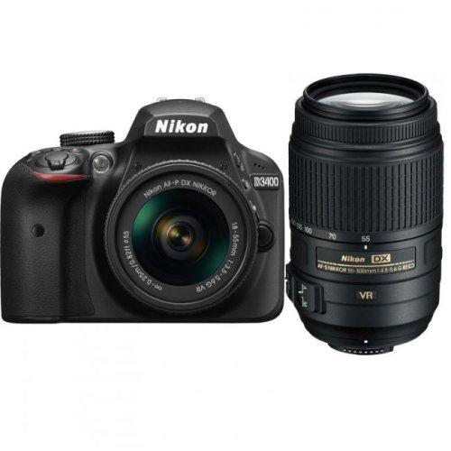 NIKON D3400 +AF-P 18-55mm F3.5-5.6G VR + AF-S 55-300mm F4.5-5.6G ED VR