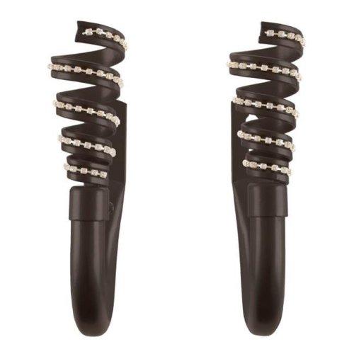 Lavish Home 63-17014A-BR Decorative Drape Tieback Hooks of Curtain Holdbacks with Mounting Hardware & with Swirl Finials, Bronze - Set of 2