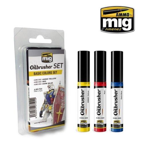 Ammo by Mig Oilbrushers Set - Basic Colors Set