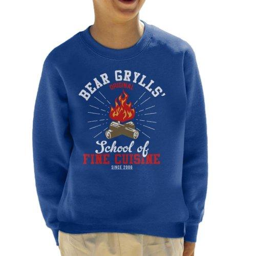 Bear Grylls School Of Fine Cuisine Kid's Sweatshirt
