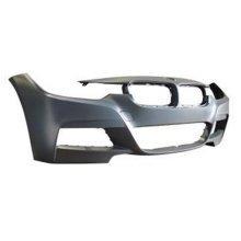 BMW 3 Series 4 Door Saloon 2012-2015 Front Bumper No Wash Jet or Sensor Holes (M-Sport Models)