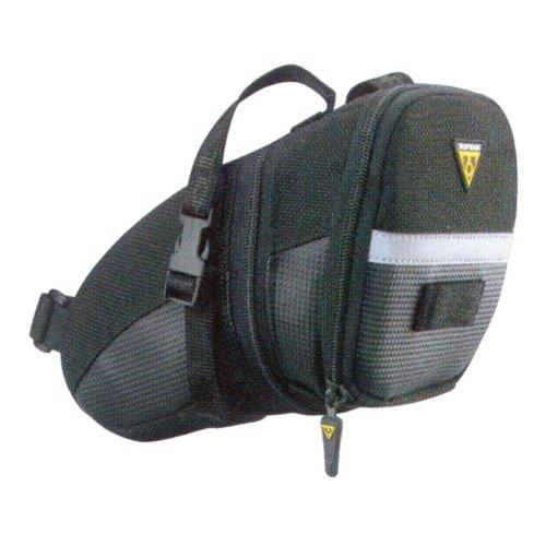 Topeak Aero Wedge Pack Strap Mount Seat Pack - Black/Silver, Large