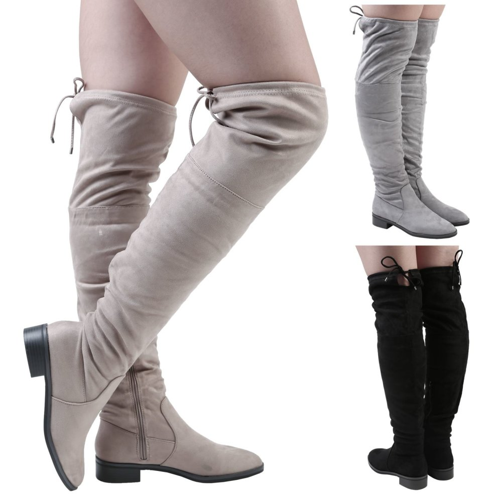 b771fdb2fbd Women s Jeannie Low Heel Over the Knee Boots on OnBuy