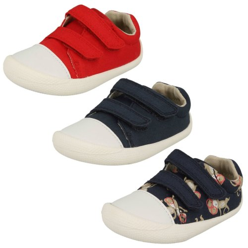 Boys Clarks Casual Full Shoes Tiny Pebble - F Fit