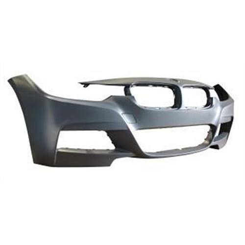 BMW 3 Series 4 Door Saloon 2012-2015 Front Bumper No Wash Jet or Sensor Holes (M-Sport Models)