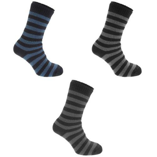 Redtag Mens Striped Extreme Thermal Socks (2.45 Tog)