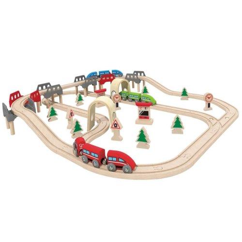 Hape High & Low Railway Set E3701