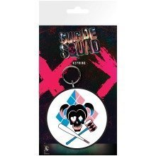 Suicide Squad Harley Quinn Skull Keyring