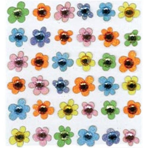 434673  Boutique Dimensional Stickers-Baby Gem Flowers